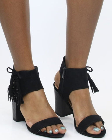 Gabriela Pump Me Up Chunky Heel - Black