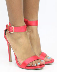 VIM VIXEN Enchanted Dressy Heel - Red Satin - ShopVimVixen.com