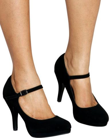 Mary-Jane Comfort Heel - Black