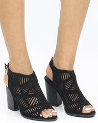 Connie Perforated Chunky Heel