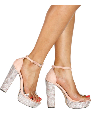 DAZZLING Iridescent Hi-Platform Heel (Available in 2 Colors)