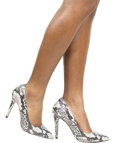 LIZZY Pointy Pumps - Snake