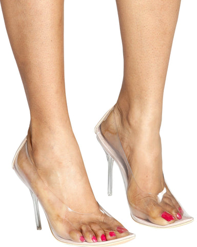 Call Me Claire Transparent Pumps