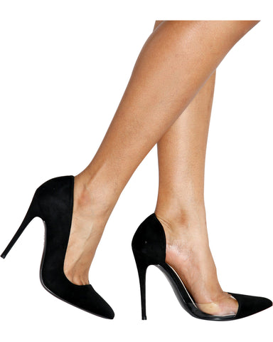 HOT MAMA Pointy Pumps - Black