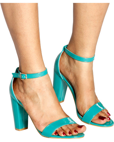 Connie Single Strap Chunky Heels