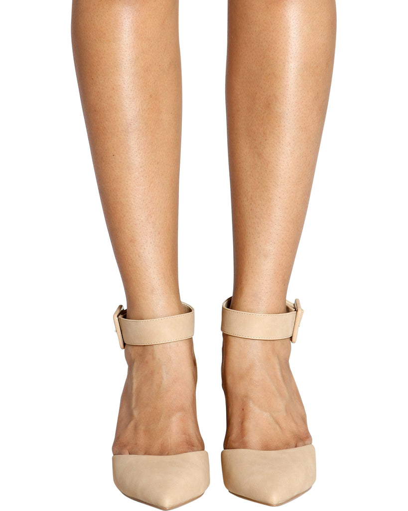 Camille Comfort Low Pumps - Nude