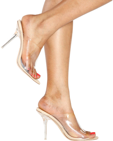 EFFORTLESS Slip On Clear Heel - Nude