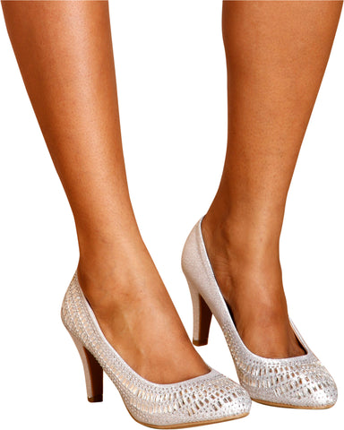 GABI Rhinestone Low Pumps (Available in 2 Colors)