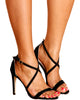 VIM VIXEN Brooke Criss Cross Stiletto Heel - Black - ShopVimVixen.com
