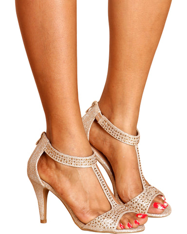 April Dressy Rhinestone Heels