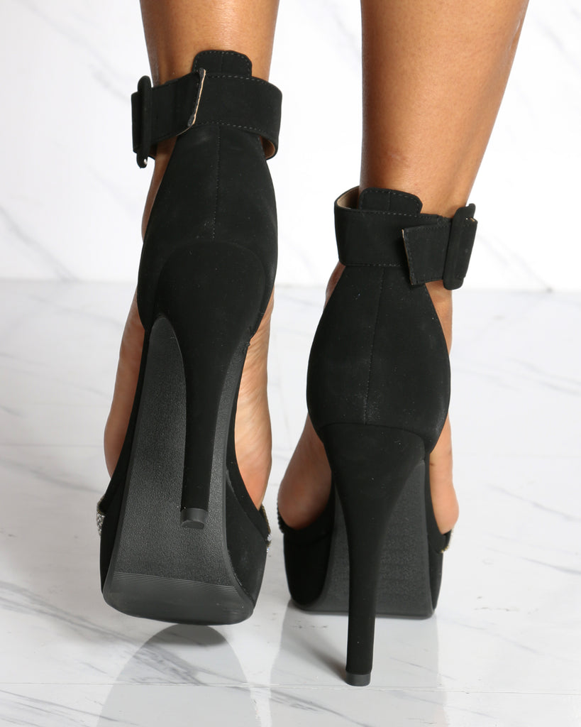 Valentina High Heel Ankle Strap Sandals