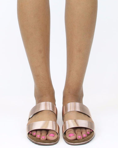 Alisa Metallic Sandals