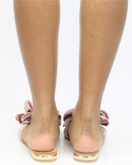 Velvet Bow Sandal (Available in 3 Colors)