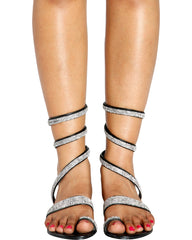 IM SO FANCY Gladiator Wrap Sandal - Black