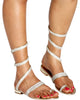 Im So Fancy Gladiator Wrap Sandal - Gold