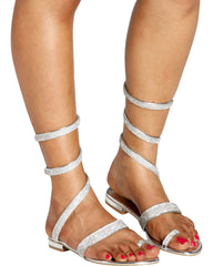 Im So Fancy Gladiator Wrap Sandal - Silver