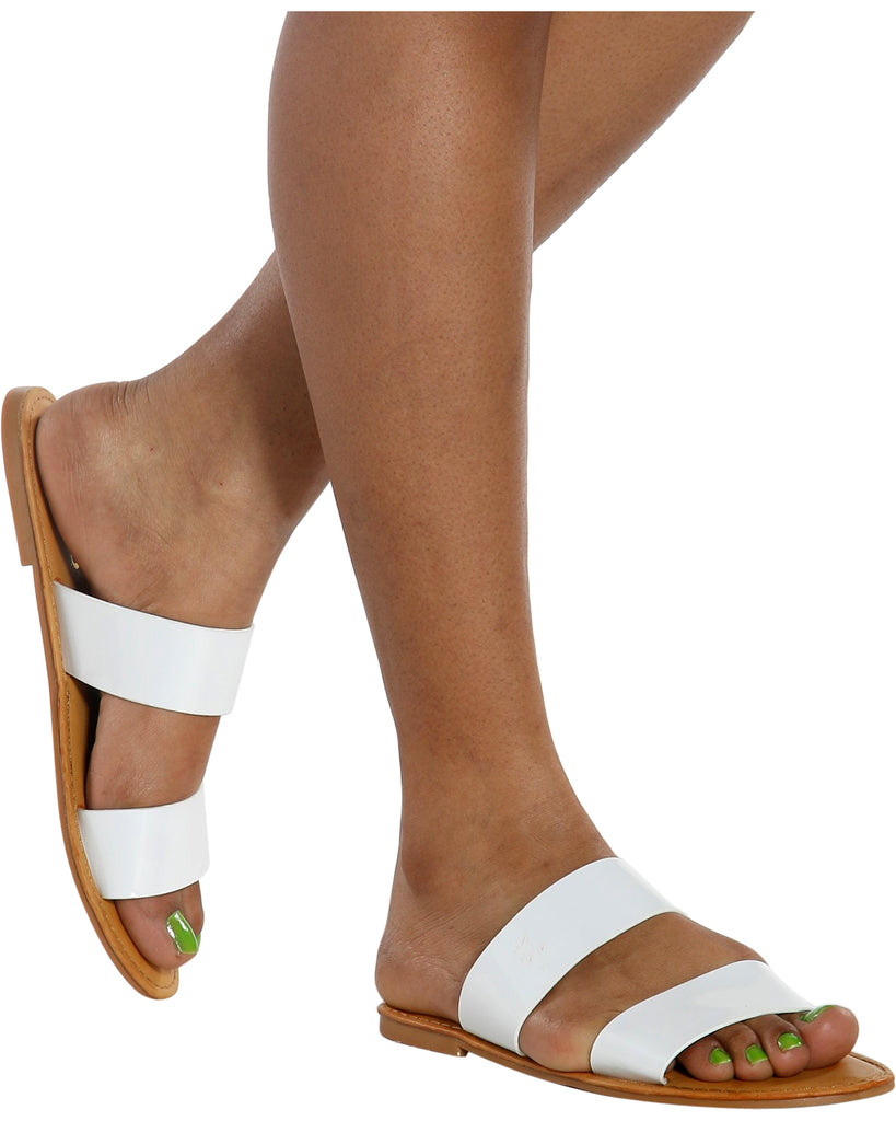 GLAMOR Glitter 2 Band Sandal (Available in 5 Colors)