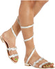 Dolled Up Spiral Ankle Wrap Sandals