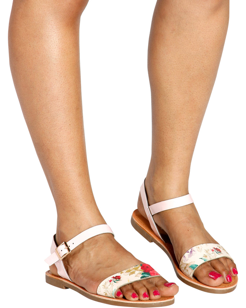 Glam Mary-Jane Sandal - Floral