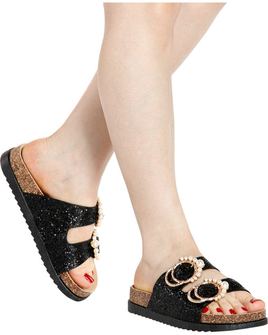 PEARL QUEEN Berk Sandal (Available in 2 Colors)