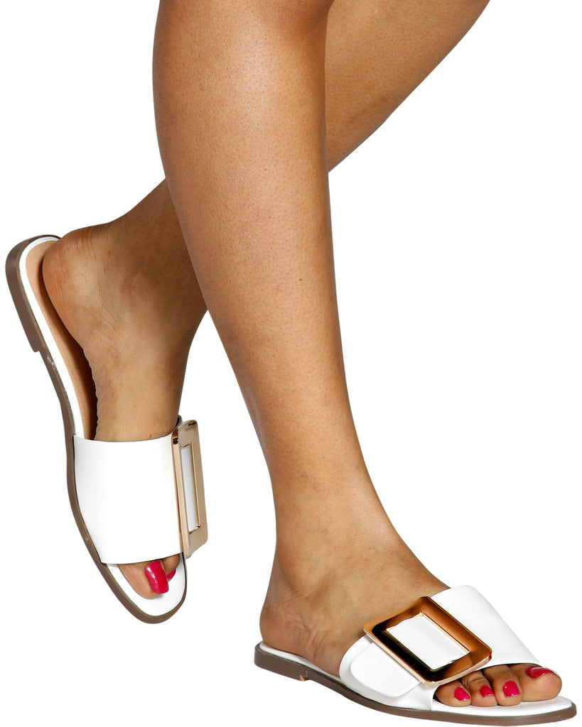 HEMA Rose Gold Buckle Slides (Available in 4 Colors)