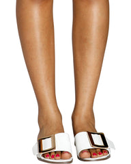 VIM VIXEN Hema Rose Gold Buckle Slides - ShopVimVixen.com