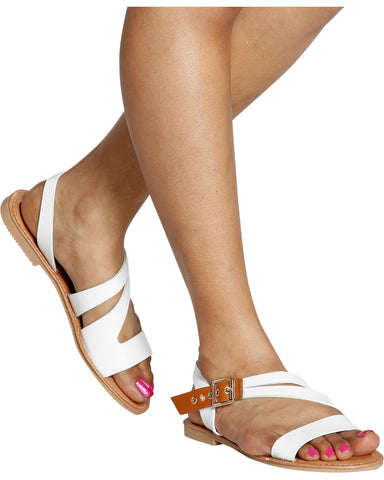 VIVIVAN Strappy Gladiator Sandal (Available in 4 Colors)