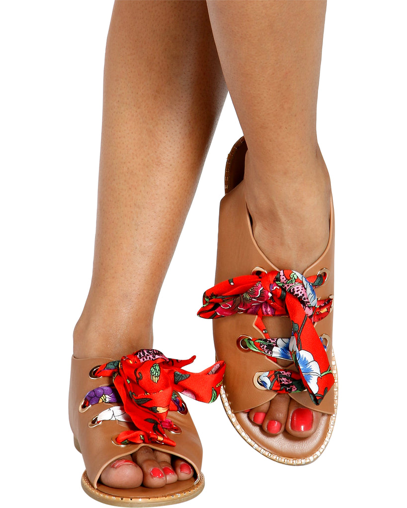 WESTERN GAL Gladiator Sandal (Available in 2 Colors)