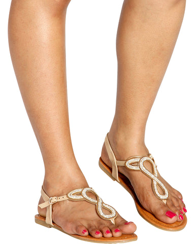 TIED UP Twisted Beads T-Sandal (Available in 3 Colors)