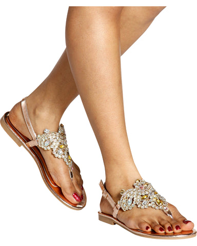 HONEY Jewel T-Sandal - Pink