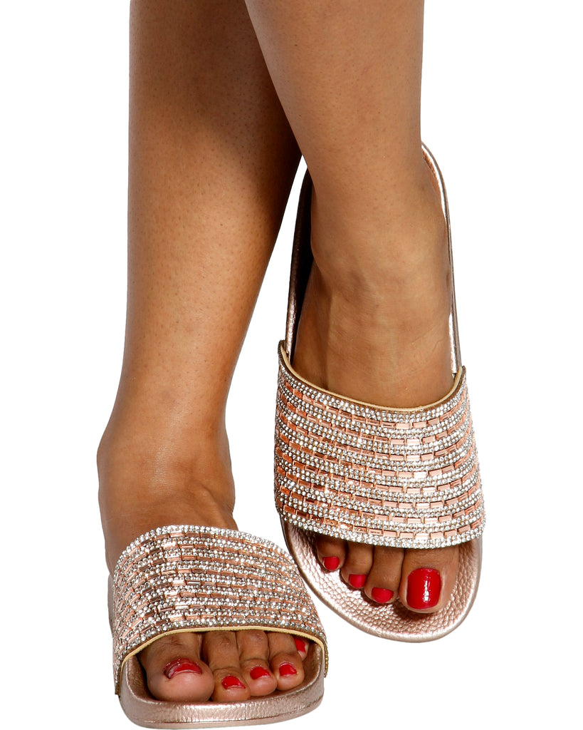SHANTEL Rhinestone Slides (Available in 2 Colors)