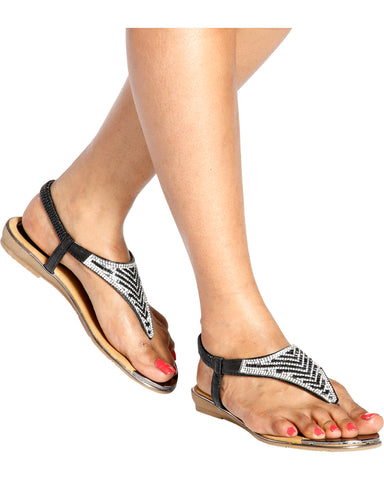 NAILAH Rhinestone T-Sandals (Available in 2 Colors)