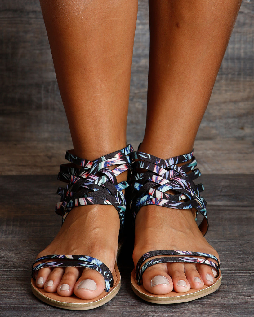 Mary Zip Up Gladiator Sandals
