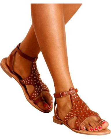 Brandy Studded Gladiator Sandals