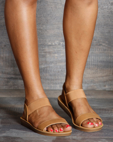 Daphne Soft Bottom Two Band Sandals