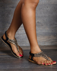Shen Traingle Rhinestone Sandals