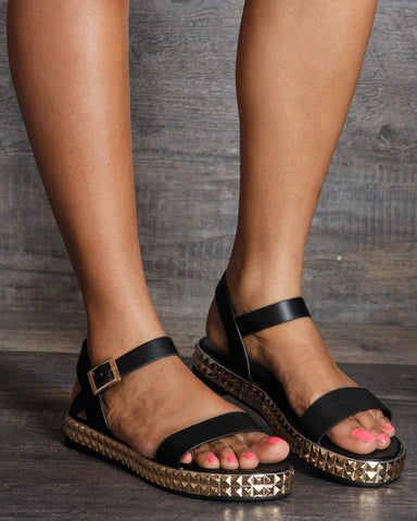 Sherry Studded Trim Sandal