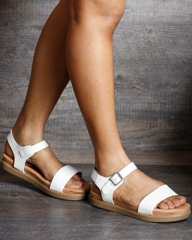Mary Jane Side Buckle Soft Insole Sandals