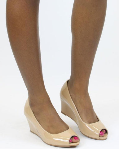 Emily Open Toe Wedge Shoe