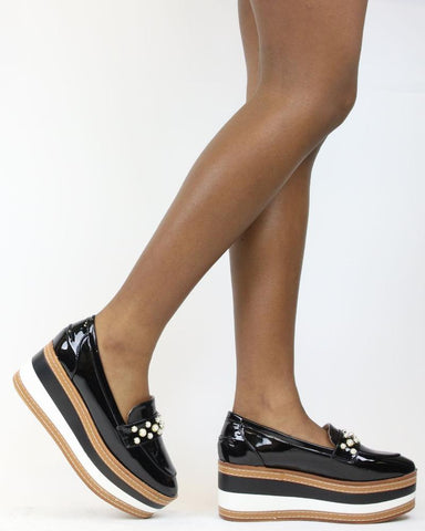 SHARON Patent Flatfrom 3 Inch High Wedge (Available in 2 Colors)