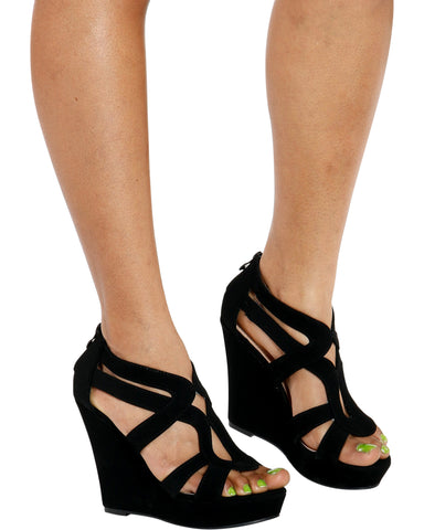 Lindy Hi-Wedge - Black