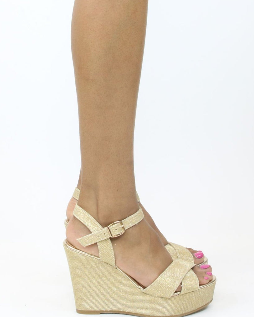 SHAY Glitter Wedge (Available in 3 Colors)