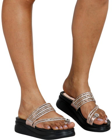 Nancy Toe Ring Wedge Sandals