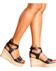 Milada Gladiator Hi-Wedge - Black