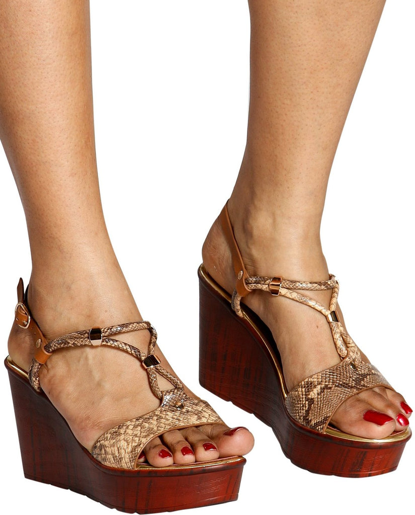 ALBA Snake Print Super Light Wedge (Available in 2 Colors)