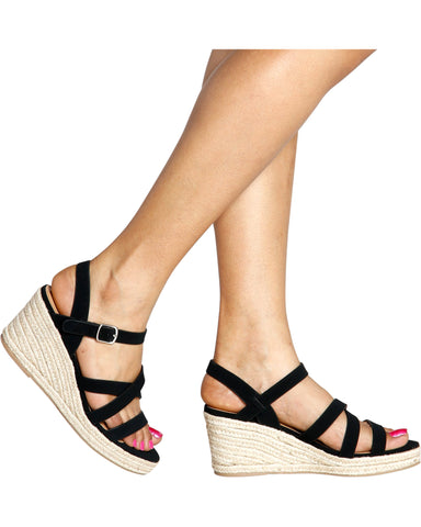 Chole Espadrille Strappy Wedges