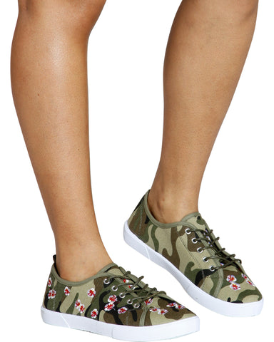 Time To Hide Embroidered Fashion Sneaker - Camo