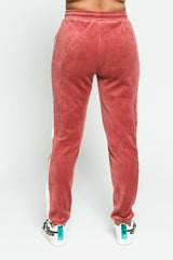Side Stripe Velour Pants