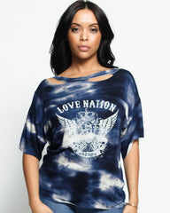 Love Nation Acid Boyfriend Fit T-Shirt (Available in 2 colors)