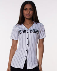 WOMEN'S YANKEES STRIPED JERSEY